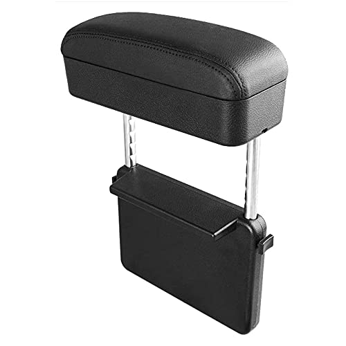 SENYAZON Auto Konsole Armlehne Box Armlehne Armlehne Höhenverstellbar Komfort Ellbogenpolster Armres Storage Organizer Box (schwarz)