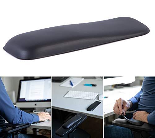 Gel-Buddy chair Die Armauflage für den Bürostuhl Gaming-Stuhl oder Schreibtischstuhl, Farbe:schwarz, Größe:15 x 5cm