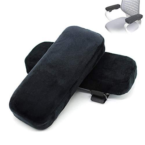 Junzheng Armlehnen Polster,2 Stück Ergonomische Armlehnen Pads Kissen,Pillow Cover,Memory Foam für Bürostuhl & Spielstuhl,Anti-Rutsch Supportfür Ellenbogen Relief