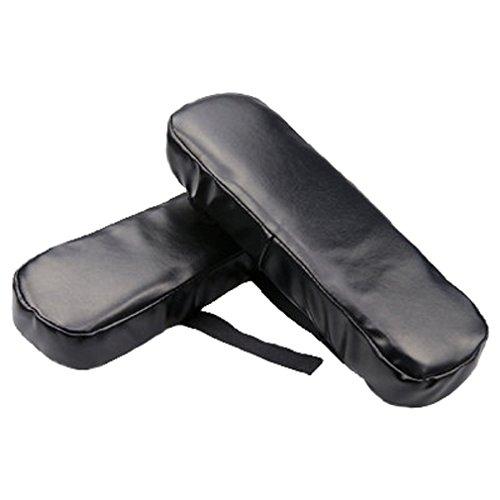FUYUFU 2pcs PU Stuhl Memory Foam Armlehne Pads Elbows Kissen Kissen Für Armlehne Kissen Für Ellenbogen Weiches Material Entlastet Druck auf die Ellbogen (Schwarz)