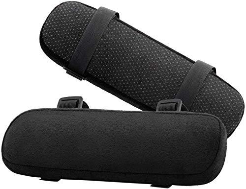 MoKo Bürostuhl-Armabdeckungen, 2 Stück Weiches Ellenbogen Kissen aus Gedächtnisschaum, Universelle Stuhl Armüberzüge für Ellenbogen und Unterarme Druckentlastung - Schwarz
