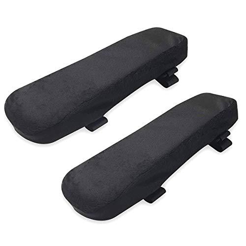 iFCOW Armlehnen-Polster für Bürostühle, universeller Stuhl-Bezug aus weichem Schaumstoff, Ellenbogenkissen für Ellbogen und Unterarm, Druckentlastung, 2 Stück