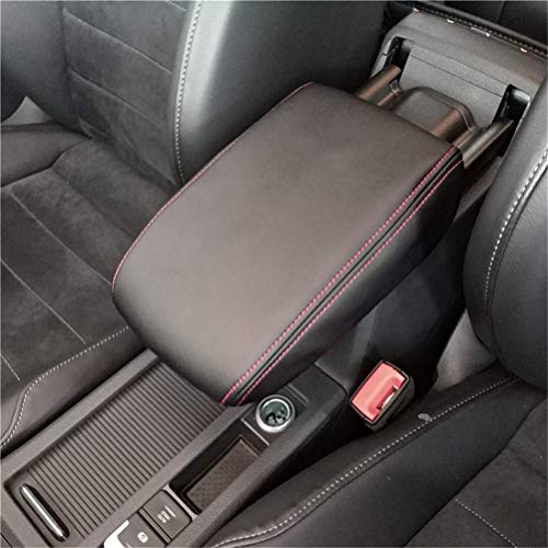 Auto Armlehne Box Abdeckung Leder Schutzhülle von Mittelarmlehne Box für Golf 7 MK7 2013-2017