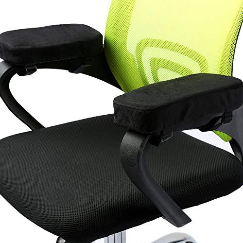 """ANSUG 2 Stück Stuhl Armlehne Pad, Memory Foam Ellenbogen Kissen abnehmbare Stuhl Arm Abdeckungen für Bürostühle und Rollstuhl - Größe 9,8 * 3 * 1,4"""""""