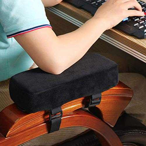 Xpnit Stuhl-Armlehnen-Polster, dicker Memory-Schaum, rutschfeste Rollstuhl-Polsterung, bequem, für Zuhause, Büro, Gaming-Stuhl, Armlehnenkissen (schwarz, M 25 x 10 x 5 cm)