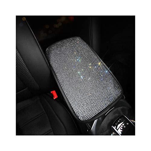 NEWL Bling Strass Auto Armlehne Box Abdeckung Pad Fahrzeug Mittelkonsole Armlehne Kissen Matte Diamant Kristall Auto Innenraum Zubehör